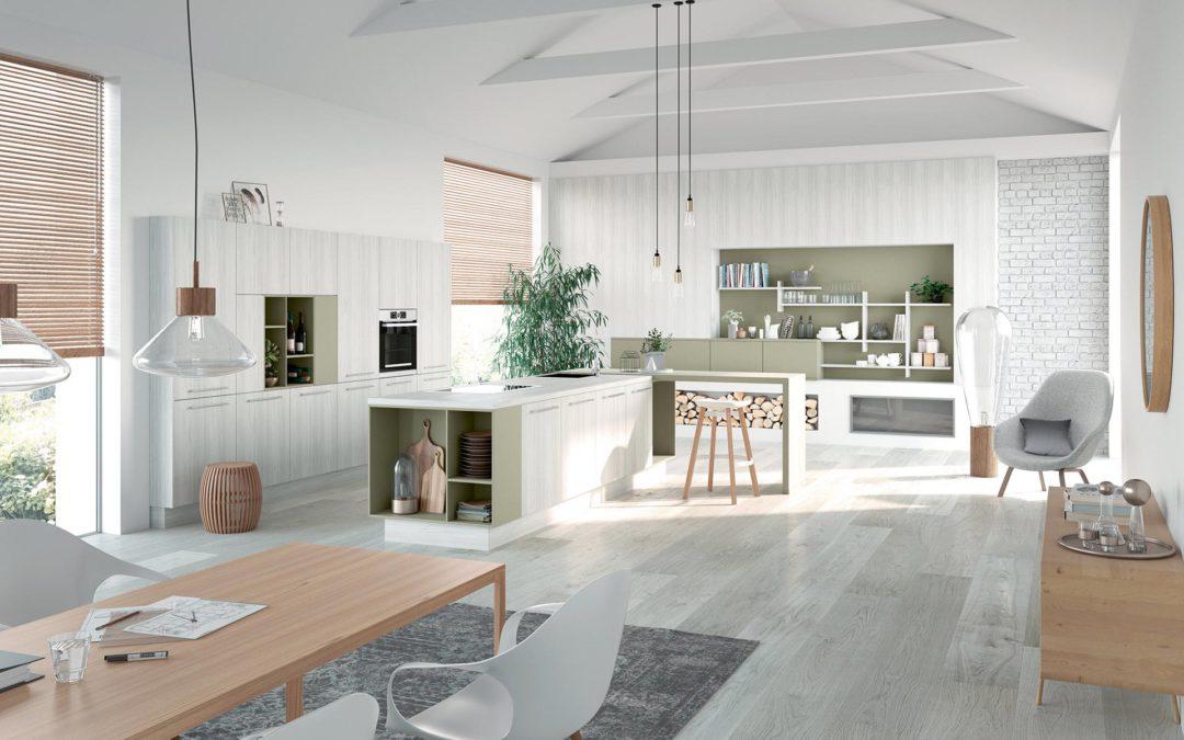 Moderne keuken met accentkleur