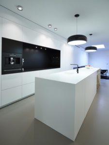 Wit zwart keuken